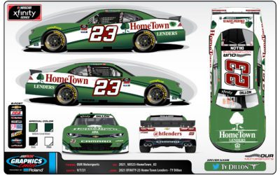 Ty Dillon Returns to the Our Motorsports #23 with Hometown Lenders, Inc.