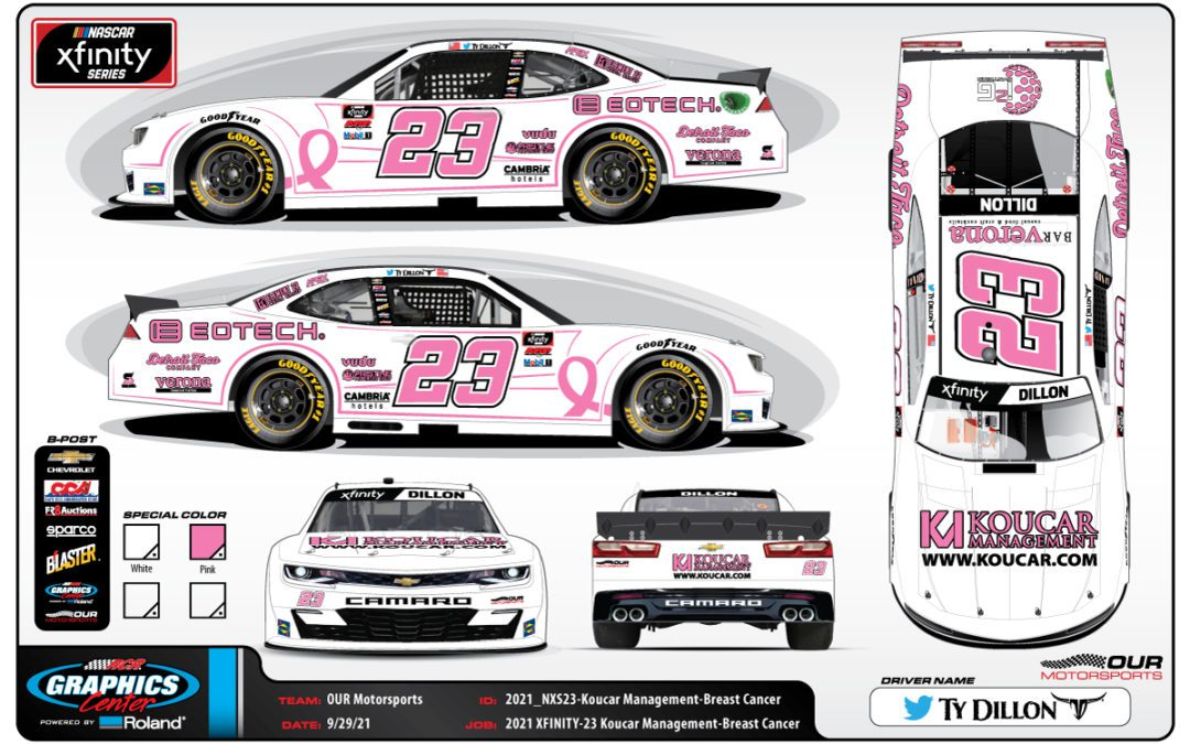Koucar Management partners with No. 23 team, Ty Dillon for Charlotte ROVAL